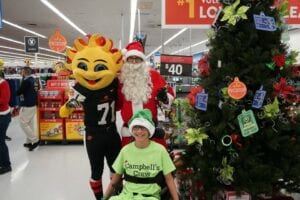 Campbell with Spirit and Santa